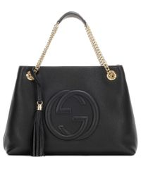 Gucci | Black Soho Medium Leather Handbag | Lyst