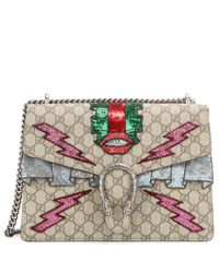 Gucci | Natural Dionysus Gg Supreme Embroidered Coated Canvas Shoulder Bag | Lyst