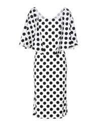 Dolce & Gabbana | Multicolor Polka-dot Stretch-silk Dress | Lyst