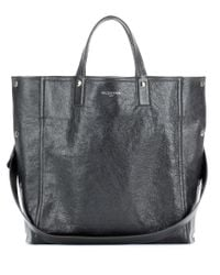 Balenciaga | Gray Papier Snap Simple Leather Tote | Lyst