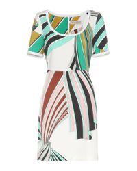 Emilio Pucci | Green Printed Stretch-twill Dress | Lyst
