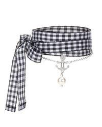 Miu Miu | Metallic Crystal-embellished Silver Bracelet | Lyst