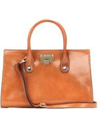 Jimmy Choo   Brown Riley Leather Handbag   Lyst