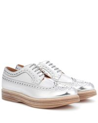 10136e0903f Lyst - Church S Opal Leather Platform Brogues in White