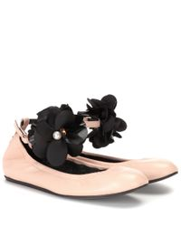 Lanvin - Natural Leather Ballerinas - Lyst