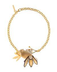 Marni | Metallic Crystal Necklace | Lyst