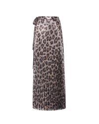 Haider Ackermann | Multicolor Printed Pleated Wrap Skirt | Lyst