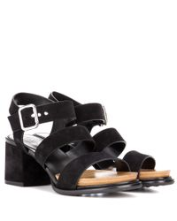 Tod's - Black Suede Sandals - Lyst
