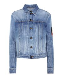 Saint Laurent | Blue Denim Jacket | Lyst