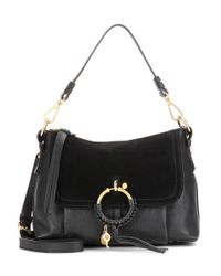 See By Chloé | Black Joan Small Leather And Suede Crossbody Bag | Lyst