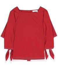 Chloé - Red Cotton Blouse - Lyst