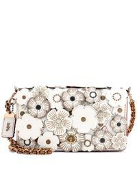 COACH | Multicolor Tea Rose Appliqué Dinky Leather Crossbody Bag | Lyst