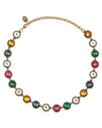 Gucci | Metallic Crystal Necklace | Lyst