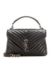 Saint Laurent | Black Classic Monogram Quilted Leather Shoulder Bag | Lyst