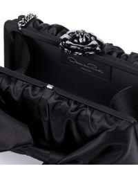 Oscar de la Renta - Black Rogan Bow Box Clutch - Lyst