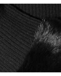 Fendi - Black Fur-trimmed Cashmere Dress - Lyst