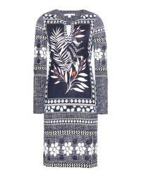 Diane von Furstenberg - Multicolor Reina Printed Silk Jersey Dress - Lyst