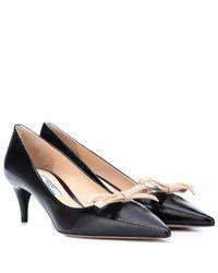Prada - Black Leather Pumps - Lyst