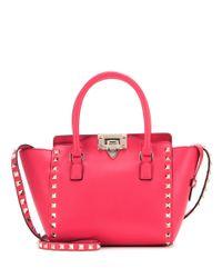 Valentino - Red Rockstud Mini Leather Shoulder Bag - Lyst