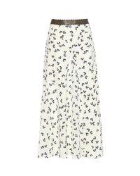 Roksanda   White Moraya Printed Silk Midi Skirt   Lyst