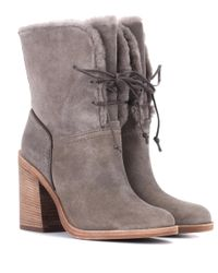 Ugg - Gray Jerene Suede Ankle Boots - Lyst