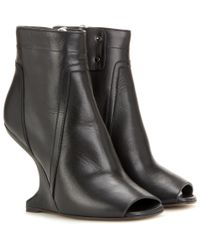 Rick Owens - Black Leather Ankle Boots - Lyst