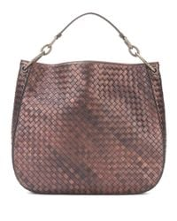 Bottega Veneta | Brown Intrecciato Leather Tote | Lyst