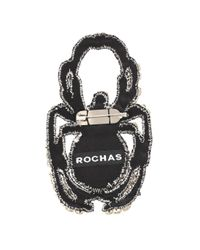 Rochas - White Crystal-embellished Brooch - Lyst