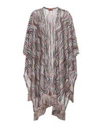 Missoni - Multicolor Metallic Wavy Knit Shawl - Lyst