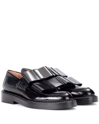 Marni - Black Glossed-leather Loafers - Lyst