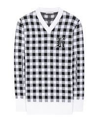 Christopher Kane - Multicolor Gingham Wool, Cashmere And Virgin Wool Sweater - Lyst