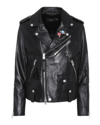 COACH - Black Space Moto Leather Jacket - Lyst