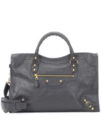 Balenciaga - Gray Classic City Medium Leather Tote - Lyst