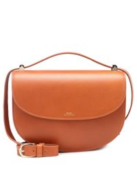 A.P.C. - Brown Genève Leather Shoulder Bag - Lyst