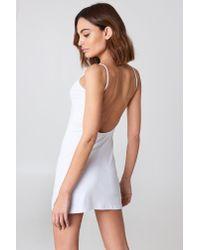 NA-KD - Basic Deep Back Dress White - Lyst