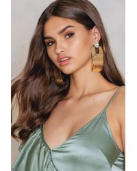 NA-KD - Metallic Big Gold Block Earring - Lyst