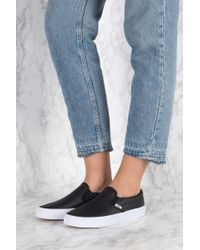 Vans - Black Classic Slip-on Perfect Leather - Lyst