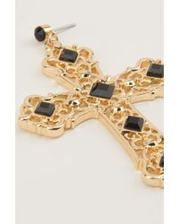 NA-KD - Metallic Cross Earrings - Lyst