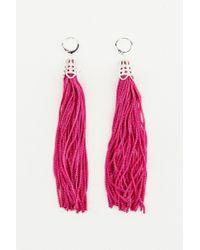 NA-KD - Pink Hanging Tassels Earrings - Lyst
