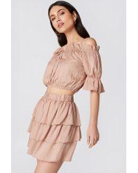 9fe0837356 NA-KD. Women's Layered Mini Skirt Nude
