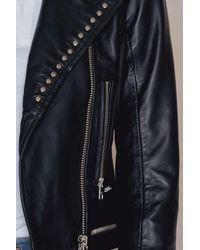 Calvin Klein | Black Omega Leather Biker | Lyst