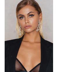 NA-KD - Metallic Long Snake Earrings - Lyst