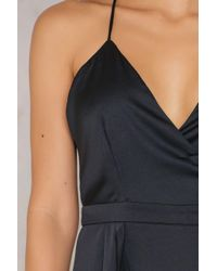 Passion Fusion | Black Slip Maxi Dress | Lyst