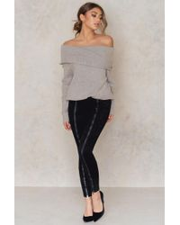 NA-KD - Black Zipped Suede Pants - Lyst