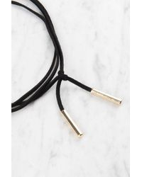NA-KD - Black Suede Necklace With Metal Detail - Lyst
