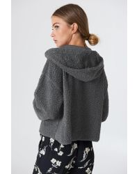 Native Youth - Gray Sherpa Hoodie - Lyst