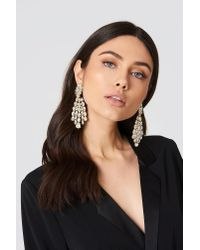 NA-KD - Metallic Big Ice Rhinestone Earring - Lyst