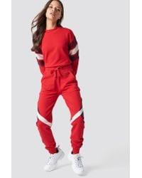 NA-KD - Red Multi Blocked Sweatpants - Lyst