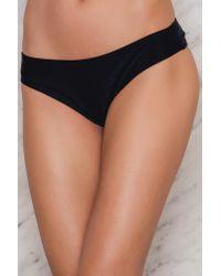 19c46a8fc26 Lyst - Hot Anatomy Basic Bikini String in Black
