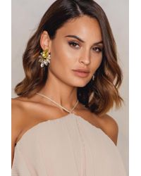 NA-KD - Yellow Bigger Diamond Earrings - Lyst